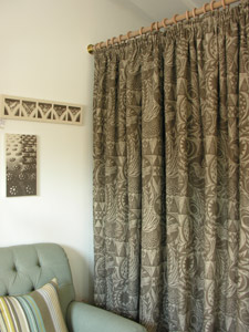 Birdgarden Curtain by Mark Hearld for St. Jude's