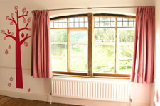 Cotton Gingham, curtains for nursery