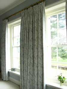Wildflower Jacquard Full Length Triple pleated curtains