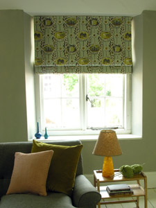 Roman Blinds in Painswick by Ed Kluz for St. Jude's