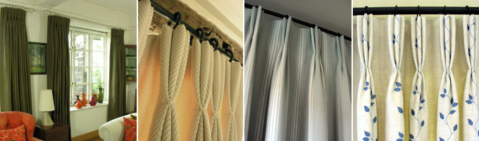 Triple Pleat Curtains Montage